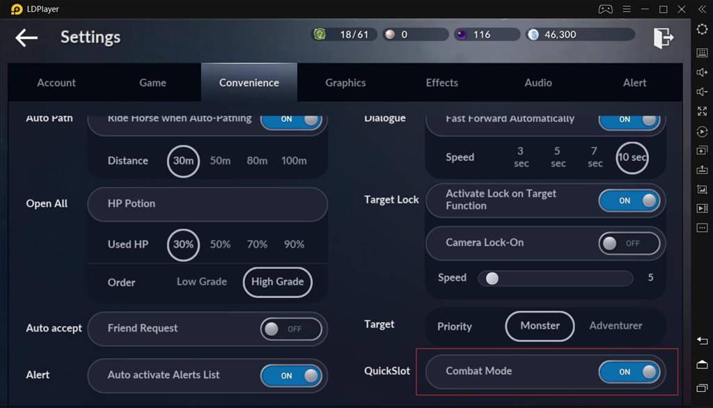 Activate Combat Mode On Black Desert Mobile