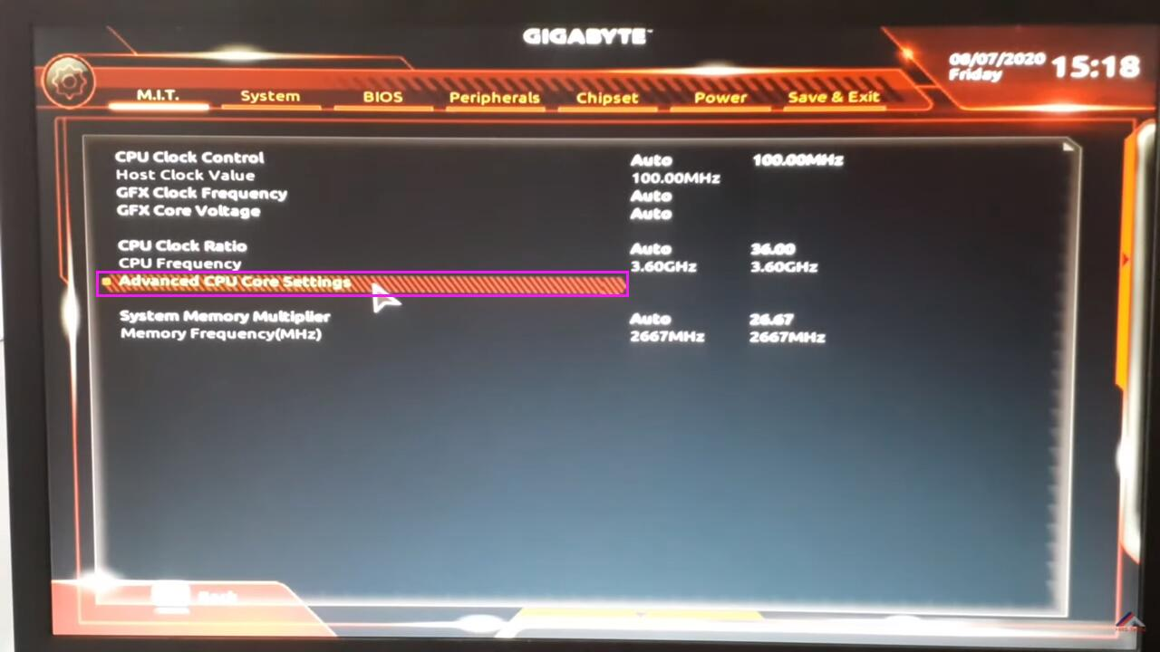 Enable Virtualization Technology (VT) on GIGABYTE computer and motherboard