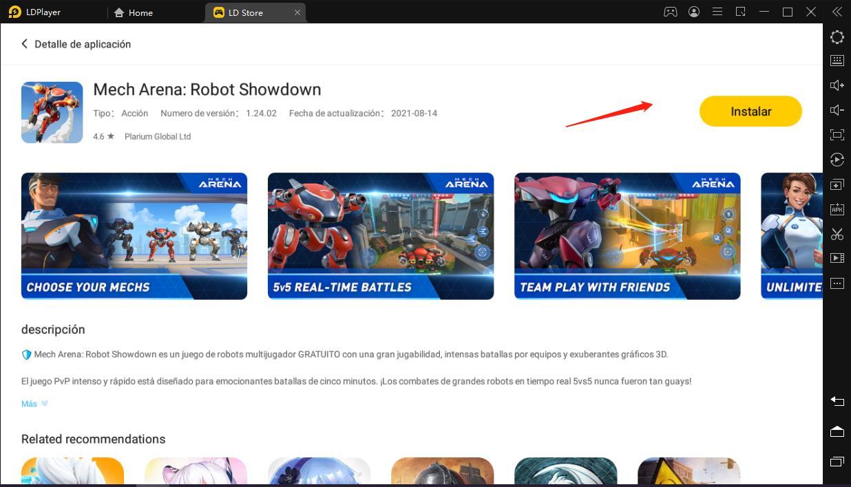 Nuevo juego de Robots - Cómo descargar Mech Arena: Robot Showdown en PC 2021