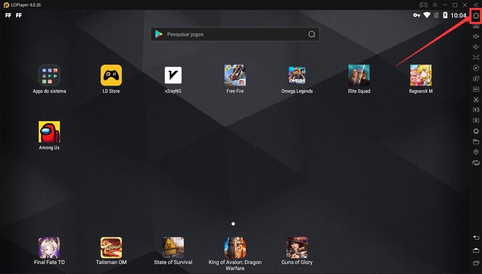 Configurações de alto FPS para jogos Android no emulador