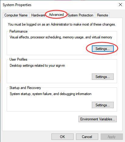 Hướng dẫn cài đặt Bộ nhớ ảo(Virtual Memory)