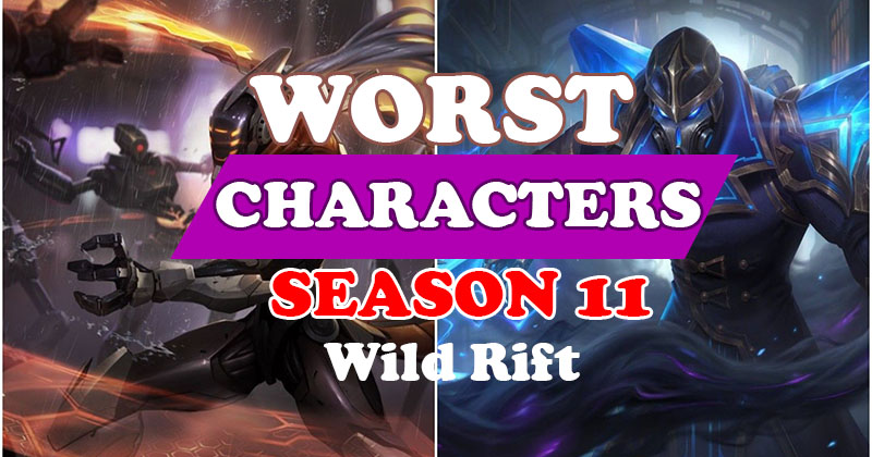 LOL Wild Rift Top Worst Characters You s...